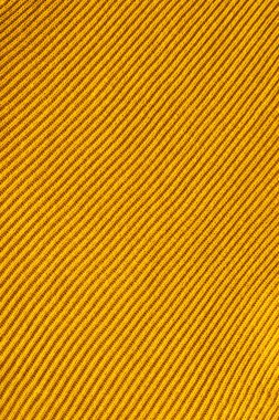 Full frame of yellow woolen fabric backdrop stock vector