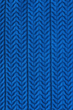 Full frame of dark blue woolen fabric with pattern as backdrop stock vector