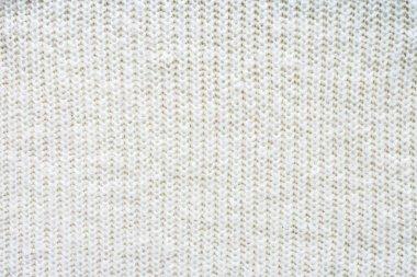 Full frame of white woolen fabric background stock vector