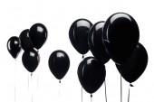 fekete léggömb elszigetelt fehér háttér, fekete péntek