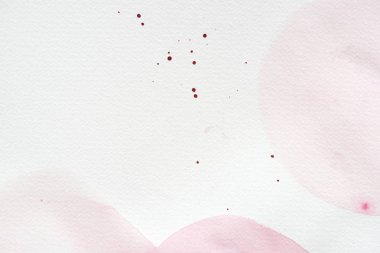 Abstract background with light pink watercolor painting on white paper stock vector