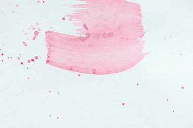 Abstract background with light pink watercolor strokes and splatters stock vector