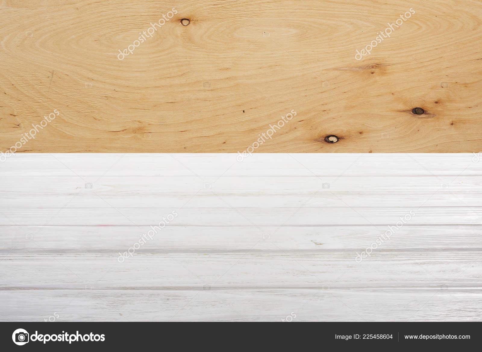 Witte Houten Vloer : Sjabloon voor witte houten vloer met multiplex achtergrond