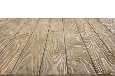 surface of brown wooden planks on white background