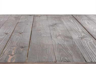 Surface of grey wooden planks on white background stock vector