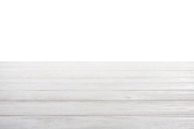 Template of white wooden floor on white background stock vector