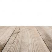 povrch béžové dřevěných prken s bílým pozadím