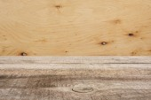 Šablona hnědé dřevěné podlahy s překližky na pozadí