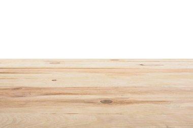 Template of beige wooden floor on white background stock vector