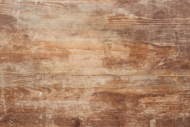 Empty old brown wooden table background stock vector