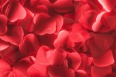 beautiful decorative red hearts, valentines day background