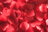 close-up view of beautiful decorative red hearts, valentines day background