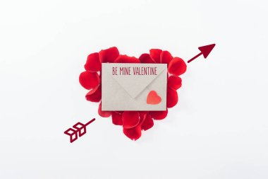 Top view of envelope with