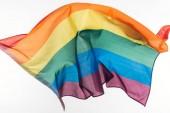 vícebarevné lgbt Duhová vlajka izolované na bílém