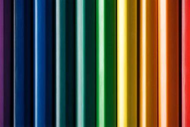 Wooden rainbow multicolored pencils, lgbt concept stock vector