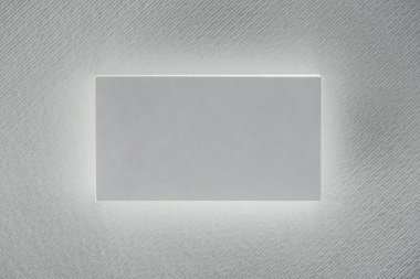Top view of blank card on white background with copy space stock vector