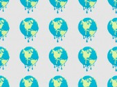 vzor s tání glóby podepisuje na šedém pozadí, globální oteplování koncepce