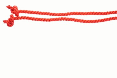 Red long lines with ropes isolated on white stock vector