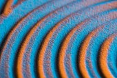 Zavřít pohled na texturované pozadí pomocí písku a barevného filtru