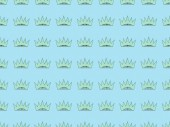 Fotografie seamless background pattern with crowns on blue, Independence Day concept