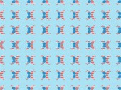seamless background pattern with mustache made of american national flags on blue
