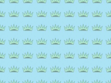 seamless background pattern with crowns on blue, Independence Day concept