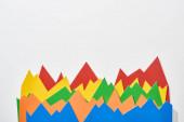 pohled na statistické grafy barev na bílém pozadí