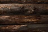 Draufsicht auf leere braune Holzstämme Hintergrund