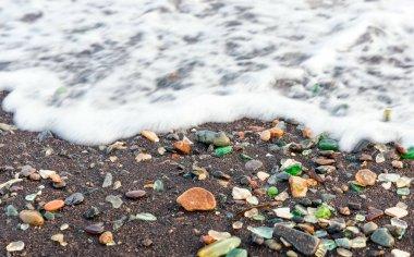 Seaglass beach in Vladivostok
