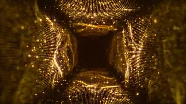 VJ Fractal gold Light Tunnel. Seamless loop
