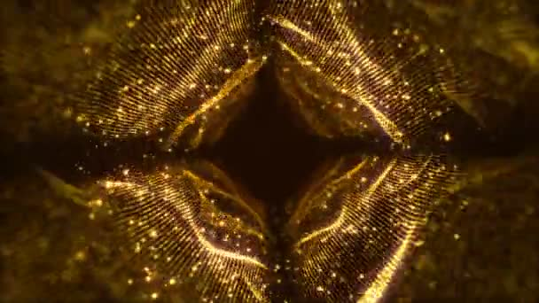 VJ Fractal gold Light Tunnel. Seamless loop