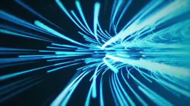 blauer Hyperraumsprung mit Schleifendrehung