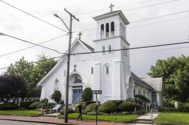 Martha's Vineyard, Massachusetts. Saint Elizabeth Catholic Parish, a small church in the town of Edgartown in the island of Massachusetts, part of The Good Shepherd Parish
