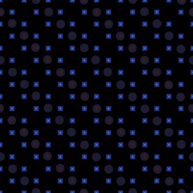 Dark geometry seamless simple pattern for your abstract background design. Vector textured illustration