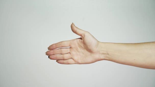ženské ruky. Gesta. Studie