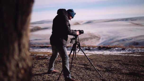 Příroda fotograf střílí na šířku