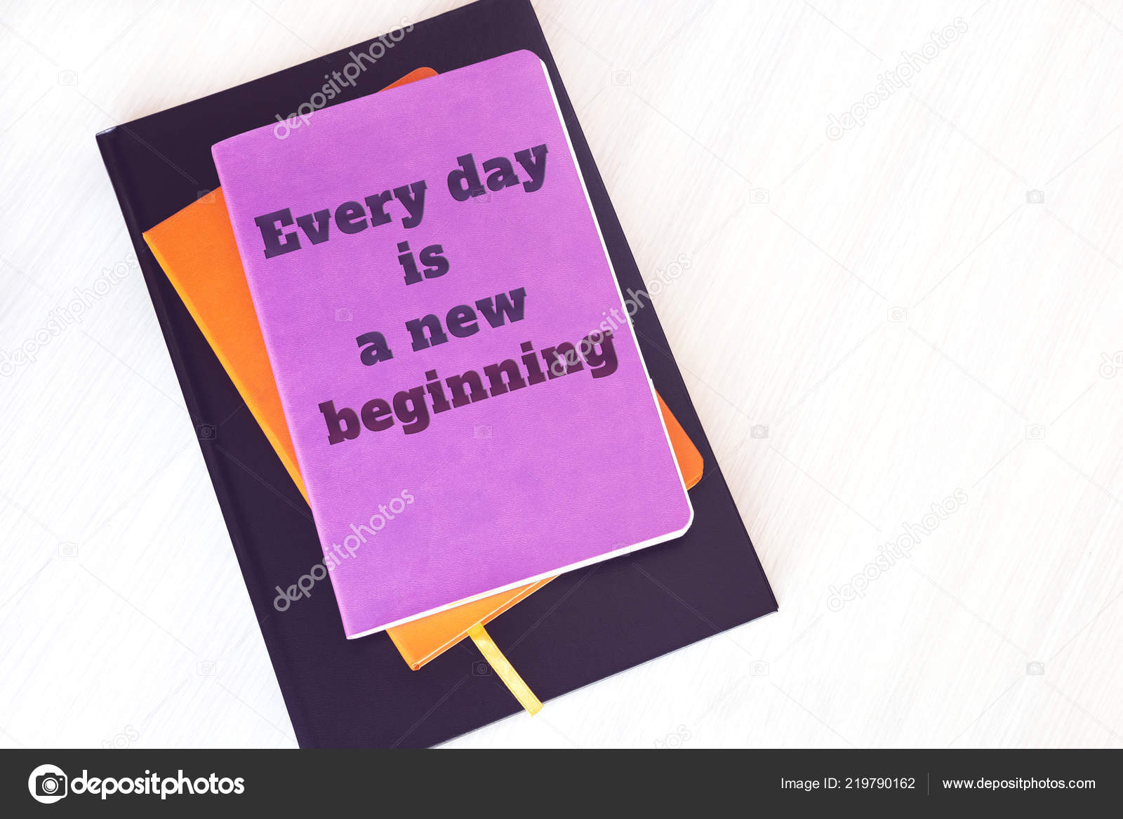 Notebook Book Diary Motivational Quote Every Day New Beginning