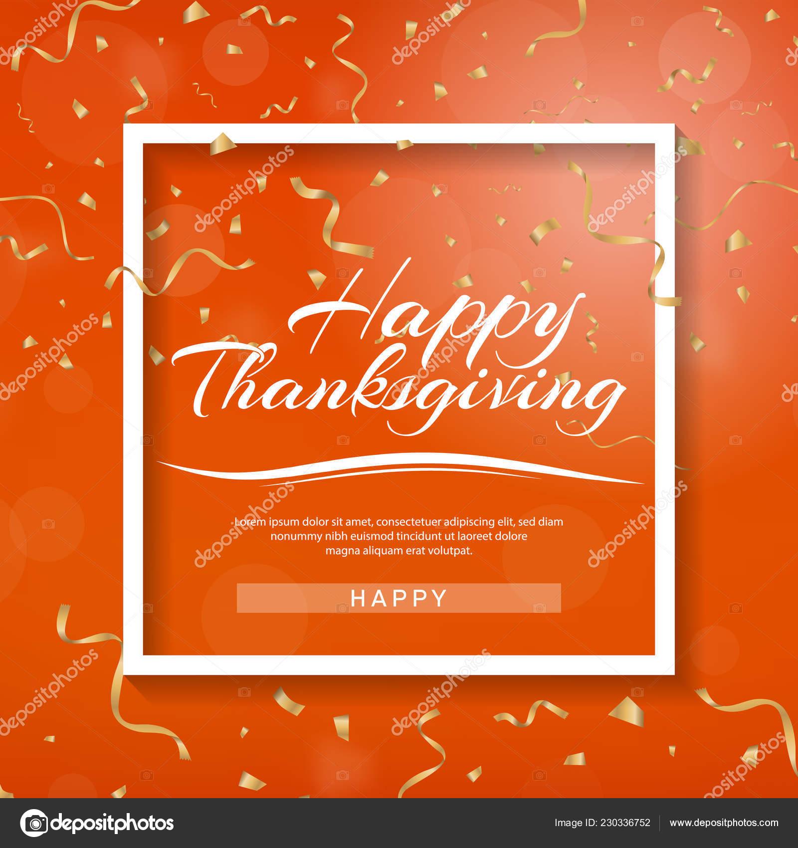 Happy Thanksgiving Banner Invitation Design Thanksgiving