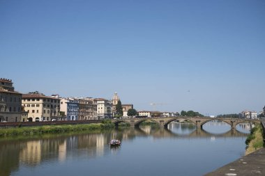 Firenze, Italy - June 21, 2018 : View of Ponte alla Carraia