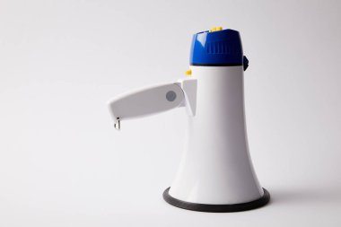 one megaphone on loudspeaker on white background