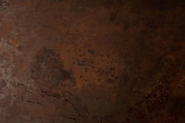 full frame image of brown rusty metal table background