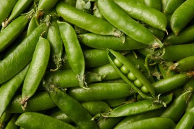 full frame shot of ripe pea pods for background
