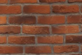 close-up view of empty red brick wall background