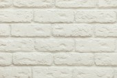 close-up view of empty white brick wall background
