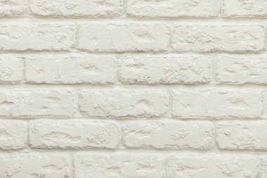Close-up view of empty white brick wall background stock vector