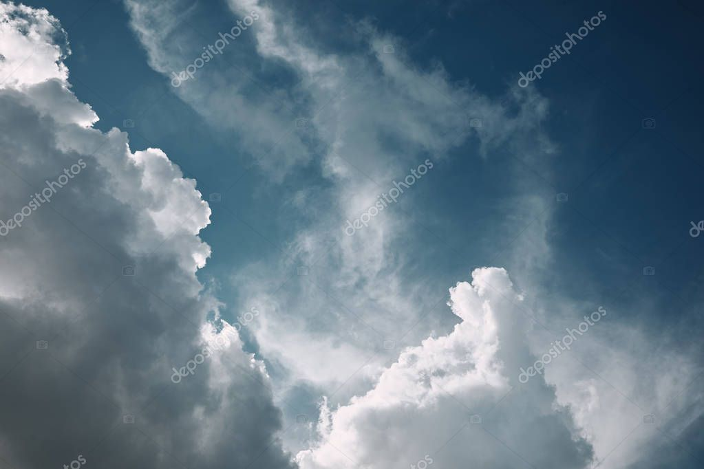 full frame image of blue cloudy sky background
