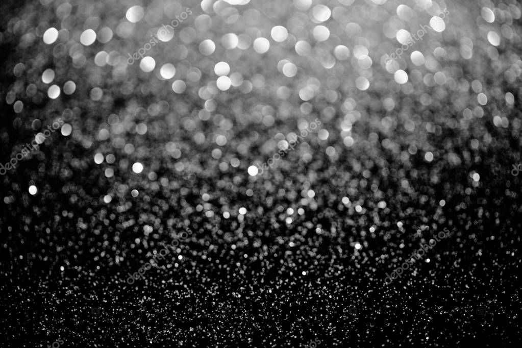 silver sparking blurred glitter texture, holiday background