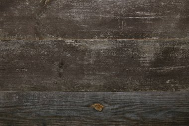 Top view of old wooden background with horizontal planks stock vector