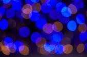 beautiful blue bokeh christmas background