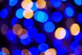 Fotografia Priorità bassa di Natale di bokeh brillante blu e oro